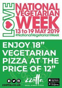 National Vegetarian Week 2019 @ Zzetta - Soul Fired Pizza